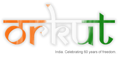 Orkut India Independence Day logo