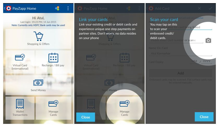 Using HDFC Bank PayZapp - a mobile payment solution